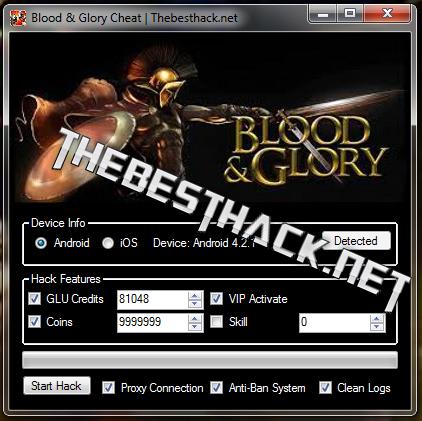 blood and glory cheat screen
