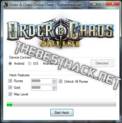 order and chaos cheat