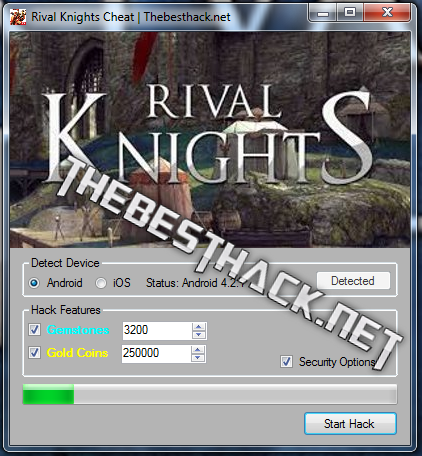 rival knights screen
