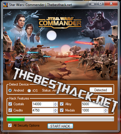 star wars comander screen
